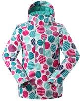 UOOU Women's Windproof Waterproof Colorfull Printed Ski Jacket Wear