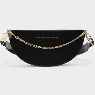 CHYLAK Glossy Black Wide Saddle Bag