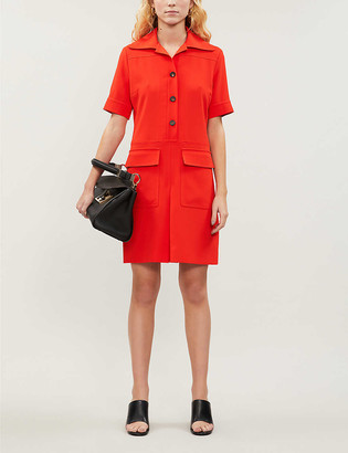 Victoria Victoria Beckham Button-through crepe mini dress