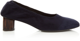 Robert Clergerie Poket block-heel suede ballet pumps