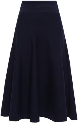 The Row Alessia Stretch Wool-blend Midi Skirt