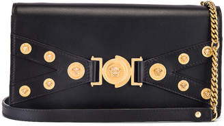 Versace Tribute Shoulder Bag in Black & Gold | FWRD