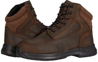 Wolverine Logan ESD Steel-Toe 6 Boot (Brown) Men's Shoes