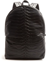 Alexander Mcqueen Ribcage-embossed Leather Backpack