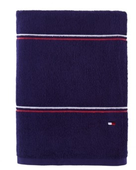 "Tommy Hilfiger Modern American Double Stripe 30"" x 54"" Cotton Bath Towel Bedding"