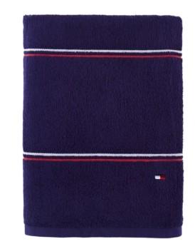 "Tommy Hilfiger Modern American Double Stripe 30"" x 54"" Cotton Bath Towel Bedding"