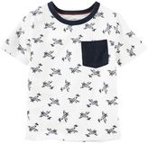 Osh Kosh Toddler Boy Short Sleeve Airplane Pattern Pocket Tee