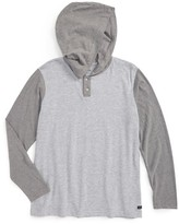 RVCA Boy's Pick Up Hooded Henley T-Shirt