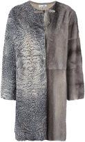 Manzoni 24 patchwork fur coat