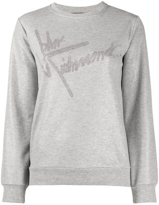 John Richmond Embellished-Logo Sweatshirt