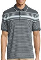 Claiborne Short Sleeve Stripe Cotton Blend Polo Shirt