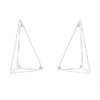 Maze Set of 2 XS White Pythagoras Shelf Consoles