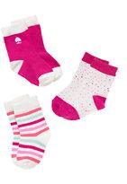 Kate Spade Layette three-pack sock set