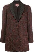 Romeo Gigli Pre Owned 1997 floral applique straight blazer