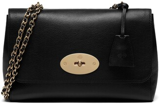 Mulberry Medium Lily Black Glossy Goat Leather
