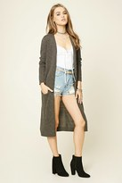 Forever 21 FOREVER 21+ Longline Fuzzy Knit Cardigan
