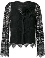 Twin-Set embroidered jacket - women - Cotton/Polyamide/Polyester/Viscose - 40