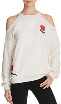 Honey Punch Embroidered Cold Shoulder Sweatshirt