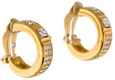 Givenchy Crystal Hoop Earrings
