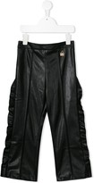 Elisabetta Franchi La Mia Bambina faux leather trousers