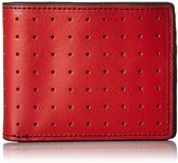 J.fold Men's Loungemaster Slimfold Wallet, Red/Brown, One Size