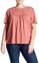 Susina Embroidered Yoke Shirt (Plus Size)