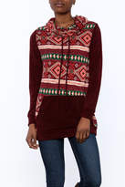 Twenty Second Burgundy Tribal Hoodie