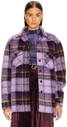 Andamane Evita Jacket in Lilac Check | FWRD