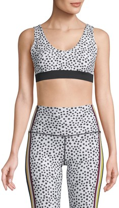Wear It To Heart Star Printed Studio Sports Bra