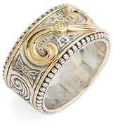 Konstantino Women's 'Hebe' Swirl Etched Band Ring