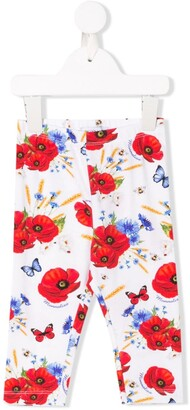 MonnaLisa Poppy Print Leggings