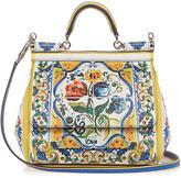 Dolce & Gabbana Sicily small Majolica-print leather cross-body bag