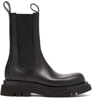 Bottega Veneta Tread-sole Leather Boots - Black