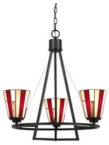 Tiffany & Co. Cal Lighting Imperial Metal & glass3 light Chandelier