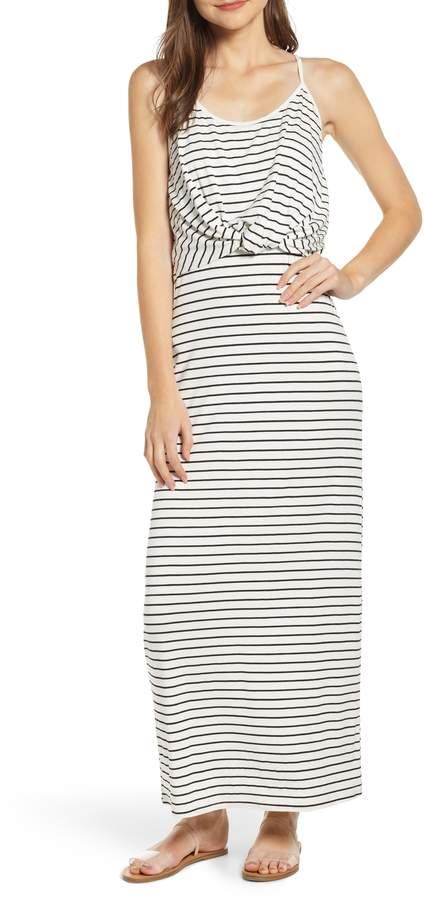 BP Twist Front Stripe Maxi Dress