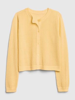 Gap Kids Eyelet Cardi Sweater