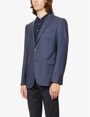 Emporio Armani M-line checked woven blazer