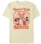 Fifth Sun Tee Shirts CREAM - Cream Mickey & Minnie 'Year of the Mouse' Tee - Adult