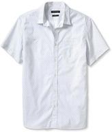 Banana Republic Camden Fit Custom Wash Short Sleeve Dot Print Shirt