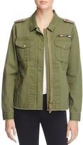 Aqua Beaded Military Jacket