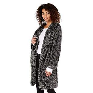 Michael Stars Women's Cozy Fur Long Coat