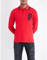 Philipp Plein Logo-embroidered Cotton-piqué Polo Shirt