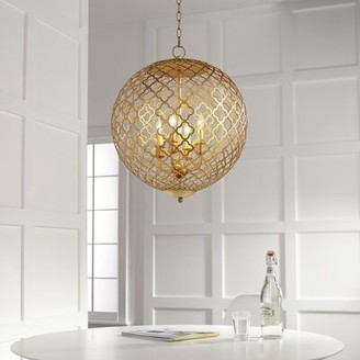 Skyros 4-Light Candle Style Globe Chandelier Cyan Design Finish: Gold