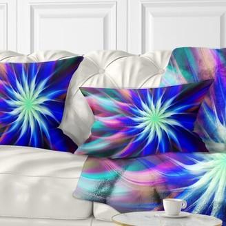 East Urban Home Floral Dance of Bright Spiral Flower Lumbar Pillow