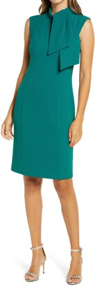 Harper Rose Jabot Neck Sleeveless Sheath Dress