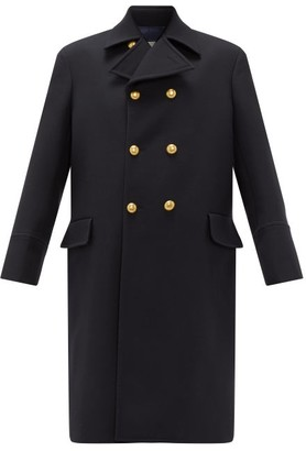 Connolly - Double-breasted Wool Military Coat - Womens - Navy