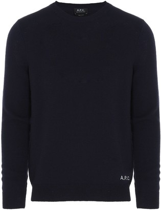 A.P.C. Logo Embroidered Knit Jumper