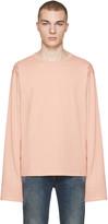 Acne Studios Pink Fello Face T-shirt