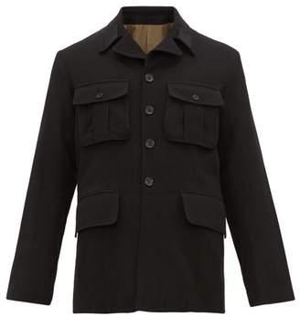 Ann Demeulemeester Flap Pocket Wool Blend Jacket - Mens - Black