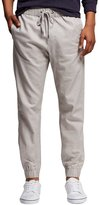 7 Encounter Mossimo Men's Linen Jogger With Drawstring Gray Size L